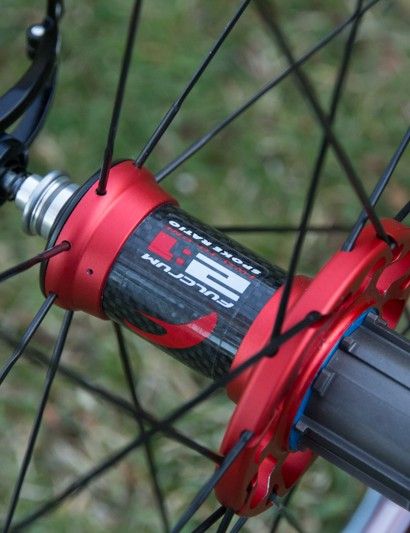 The Fulcrum Race Light XLR features a carbon-shelled rear hub body