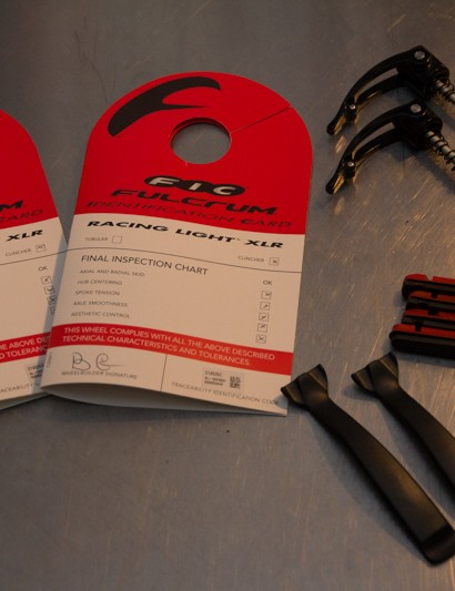 In addition to wheel bags, Fulcrum supply a few other pieces to get the Racing Light XLRs rolling