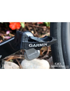 Aside from the small 'pod' that hangs off the bottom of the crank arm and houses the battery and transmitter, all of the Garmin Vector's electronics are located inside the precision machined, stainless steel spindle