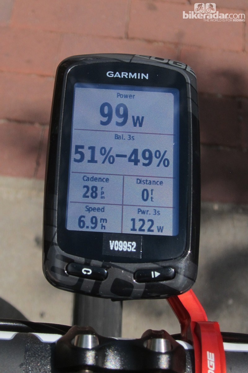 One of the biggest advantages of having a power meter in each Garmin Vector pedal is the ability to display the balance between left and right outputs. Think you're perfectly even?