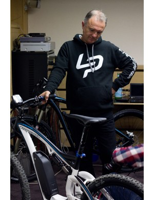 Gile Lapierre ponders his new creation, the Overvolt.
