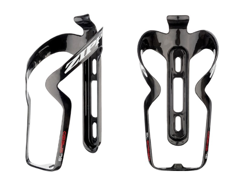 The arms on the Zipp SL Speed bottle cage pivot to allow for easier access on compact frames