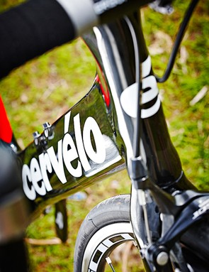 The deep-profile frame of the Cervelo S2 is surprisingly forgiving over rough roads