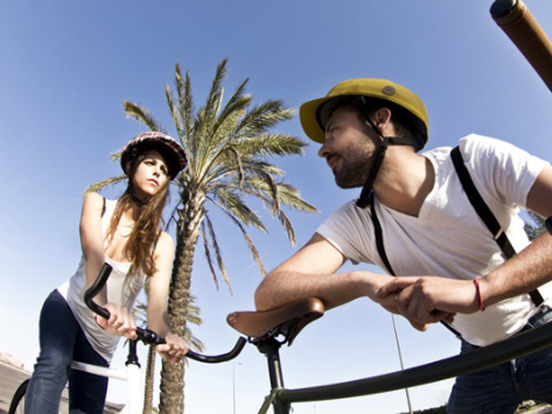 Closca designer Carlos Ferrando intends the foldable helmet to be fashionable as well as convenient and functional