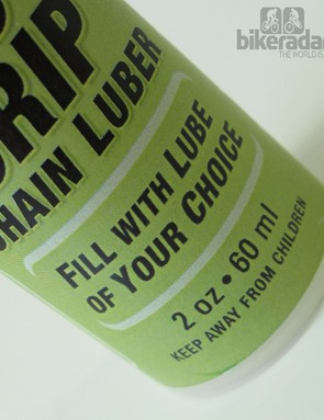 It's sold as an empty bottle that can be filled with any lube or degreaser