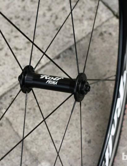 The front Rolf Prima Vigor Alpha wheel uses 14 spokes