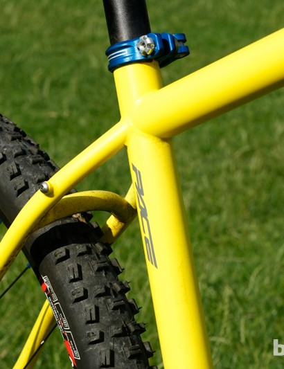 Small, tidy welds contribute to the Pace RC127 frame's clean look