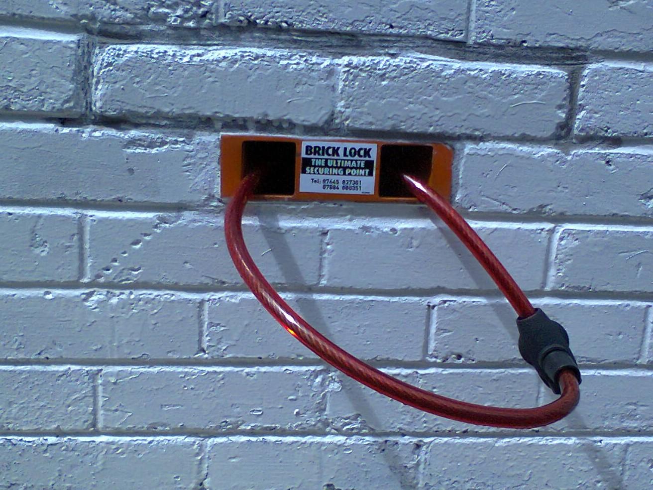 The BrickLock provides a convenient securing point