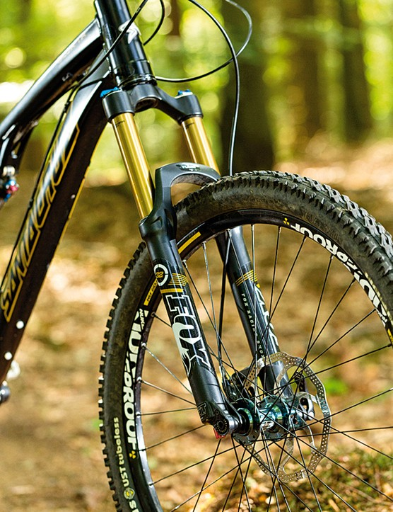 A 140mm suspension fork will make the most of the Santa Cruz Blur TR