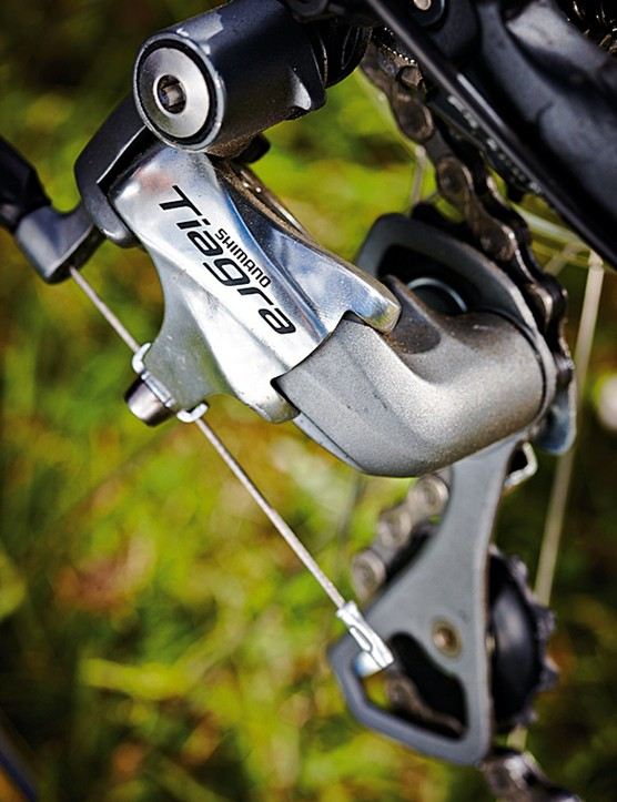 Tiagra is typical on a bike at this price and offers smooth gear shifting