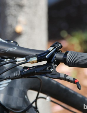 The Edict Nine FRD uses RockShox's new Full Sprint lockout for the SID fork and Monarch rear shock
