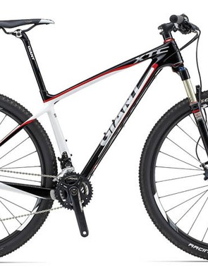The 2013 Giant XtC Advanced SL 29 1 is also equipped with the recalled Contact SLR carbon seatpost