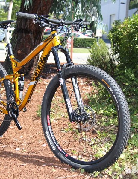 Felt has redesigned the 2014 Virtue Nine trail bike around 29in wheels and 130mm of suspension. There are two carbon and three aluminum bikes in the 2014 Virtue Nine family