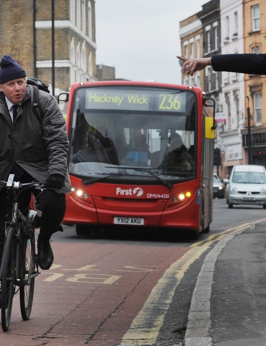 London mayor Boris Johnson has cycled in Hackney