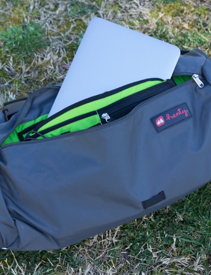 The Henty Wingman has a padded laptop sleeve with organiser