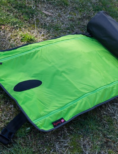 A view inside Henty's Wingman - the suit bag rolls out