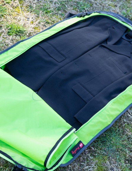 The suit bag is key to Henty's Wingman - it's well built, has internal ribbing to hold shape, and a hole for a hanger