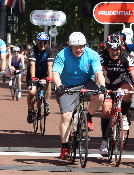 Boris Johnson was one of the high-profile finishers of the Prudential RideLondon-Surrey 100 2013