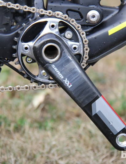 Big wheels and a small chainring – the XX1-equiped BMC Trail Crew bike gets a 28T front chainring