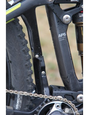 BMC developed a plate to cover the direct mount for the front derailleur when not in use