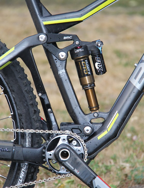 The BMC TF01 29 Trail Crew edition gets a Fox Float X rear shock