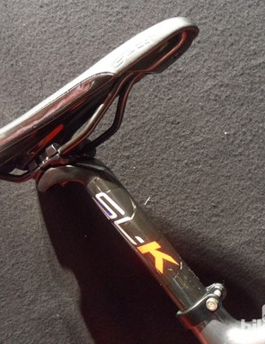 The carbon FSA SL-K seatpost is a classy touch on the £2,000 Cervélo R3 Dark 105