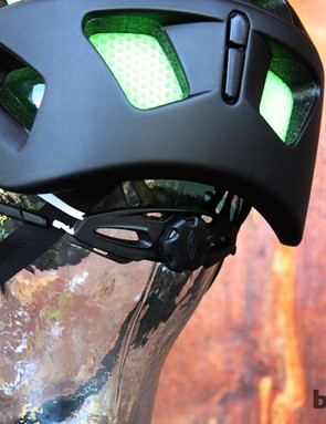 The retention system on the Smith Forefront helmet is a straightforward, dial-type affair