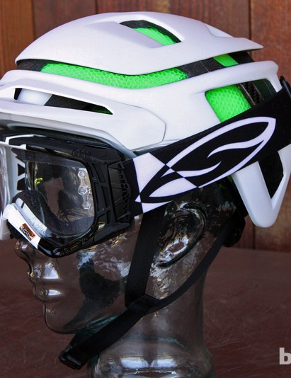Smith Optics has designed the Forefront helmet to fit well with both regular sunglasses and goggles