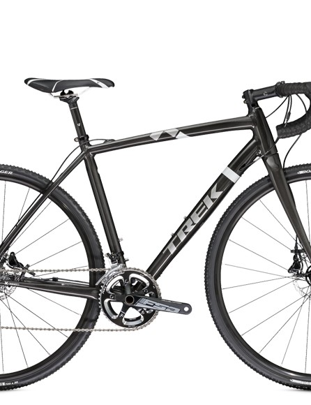 Trek's top-end disc brake cyclocross option for 2014 is the Crockett 7 Disc, complete with SRAM hydraulic brakes and a 2x10 SRAM Rival transmission