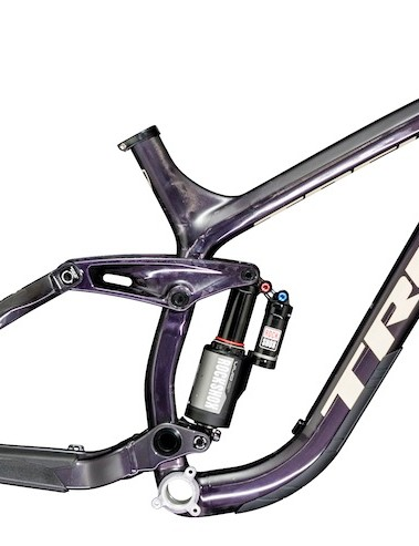 The Trek Session Park shares the same carbon front end as the Session 9.9, with a shorter aluminum rear end to make the bike more flickable