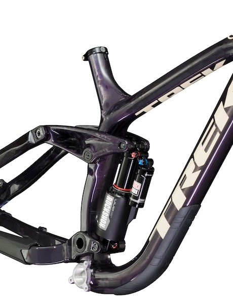 The Session Park has slightly less travel than other bikes in Trek's Session family (190mm versus 210mm)