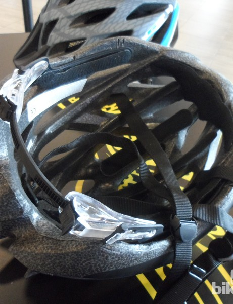 Inside the GT Corsa road helmet are decent pads and a simple but seemingly robust retention system