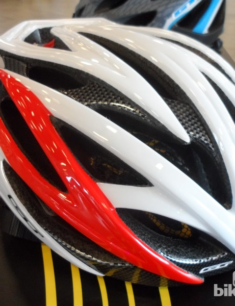 The top-level GT Edge road helmet features an in-moulded shell and internal skeleton