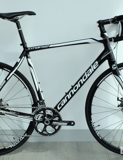 The alloy Cannondale Synapse will be offered in two disc brake models for 2014. This is the £1,099.99 105 version