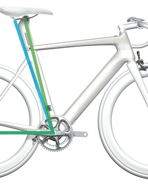Felt has developed a new seatpost for the 2014 AR. It can be flipped to optimize rider positioning for road riding or time trials/triathalons