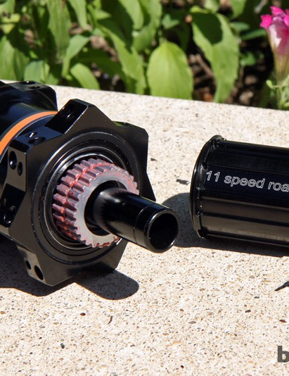 Adding DT Swiss star ratchet internals to PowerTap's new GS power meter rear hub should provide excellent durability for the company's flagship product, not to mention easy axle and freehub body compatibility