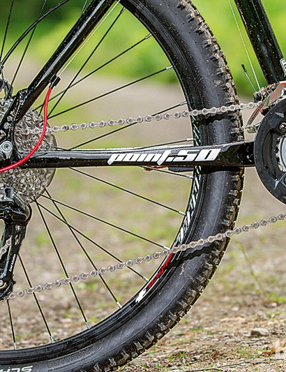 The 2x10 SRAM X5 transmission on the Calibre Point.50 is a nice touch at this price