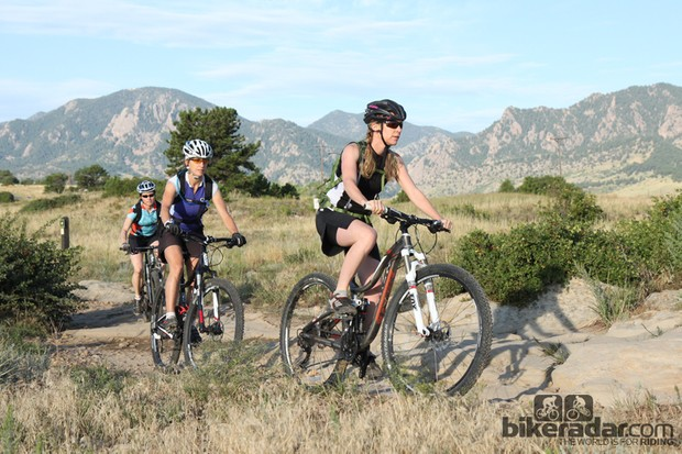 BikeRadar's test team comprised five women who had years of experience on 26in cross-country bikes but none on 29ers. For the most part, the riders appreciated the larger-wheeled bikes