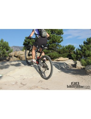 As advertised, the testers found it easier to roll over obstacles on the 29ers