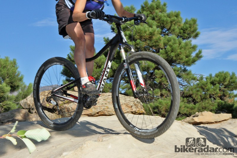 """""""As soon as I hopped on it, it made sense,"""" said one tester of the Giant Anthem X 29er 0 W. """"I think the key difference is the center of gravity, which aligns with the rider's center of gravity more truly than other bikes."""""""