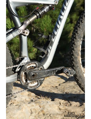 The 2x10 drivetrain proved adequate on the 110mm travel Specialized Rumor