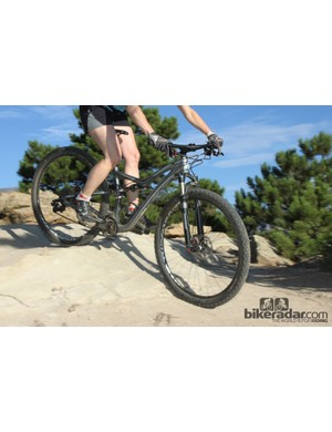 At 110mm, the Specialized Rumor seems to be a happy medium between the 100mm Giant and 120mm Trek