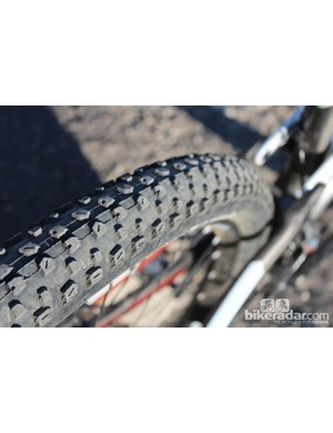 The Trek Lush gets Bontrager 2.2 tires