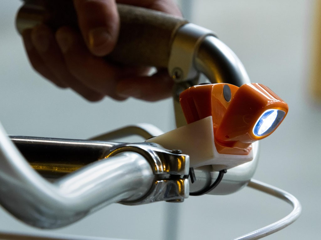 The Bosavi headlamp can be recharged via a mini USB cable, a small solar array or even a bike pump