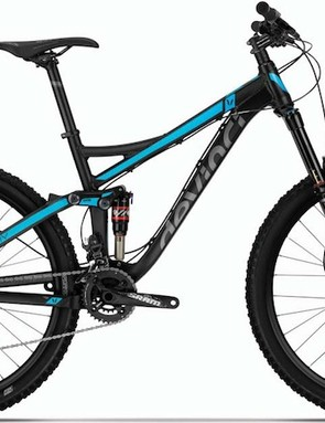 The XP is the sole aluminum bike in the Devinci Troy lineup. It comes equipped with a 150mm RockShox Pike fork, RockShox Monarch RT shock, Avid Elixir 3 brakes, and a SRAM X7 drivetrain. Claimed weight for the Troy XP is 29.7lb (13.5kg)