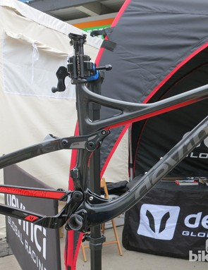 All three carbon Devinci Troys share the same frame