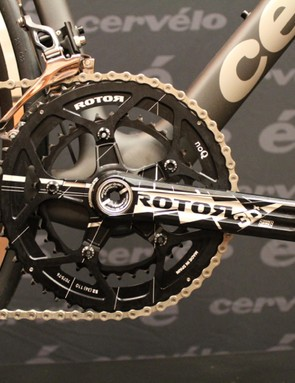 Perhaps because of the BBRight bottom bracket design, Cervélo specs a lot of Rotor cranks, which can accommodate virtually any BB