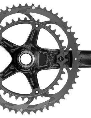 The new Campagnolo Over-Torque crankste keeps the five bolt fixture of the Ultra-Torque