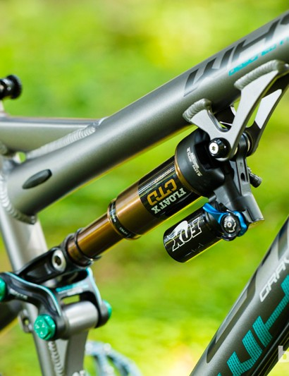 The Whyte G-150 Works also gets a piggyback-equipped Fox Float X rear shock as well a SRAM X01 drivetrain