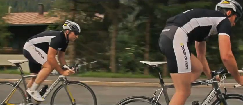 The prototype Boardman B56 Superlight frames being put through their paces in Austria